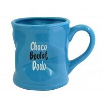 Mug CHOCO BOULOT DODO Mug bleu humoristique en céramique déformé