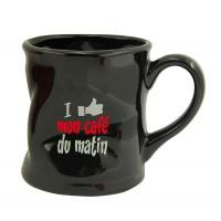 Mug mon café Mug noir humoristique en céramique déformé