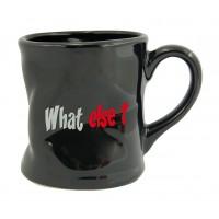Mug WHAT ELSE ? du matin Mug noir humoristique en céramique déformé