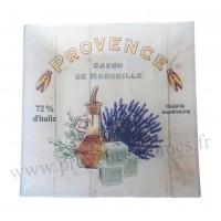 Petit plat en verre décoration Provence Savon de Marseille