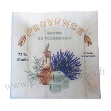Petit plat en verre déco Provence Savon de Marseille