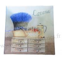 Petit plat en verre décoration Lavande Romarin