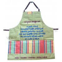 Tablier de cuisine Pan Bagnat Tablier en coton recettes du Sud