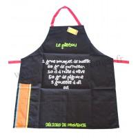Tablier de cuisine Le Pistou Tablier en coton recettes du Sud