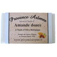 Savon à l'huile d' Amande Douce et Huile d'olive Bio de Provence Arômes