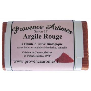 Savon à l' Argile Rouge à l'huile d'olive Bio et huiles essentielles de Provence arômes