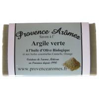 Savon à l'argile verte huiles essentielles et huile d'olive Bio de Provence Arômes