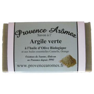 Savon Argile verte à l'huile d'olive Bio de Provence Arômes