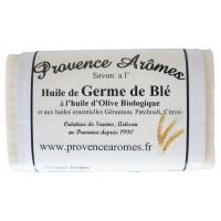 Savon à l'huile de Germe de blé huile d'olive bio de Provence Arômes