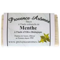 Savon huile essentielle de menthe et huile d'olive Bio de Provence Arômes