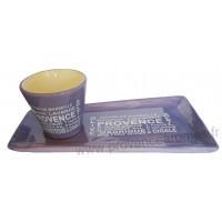 Service Apéritif ou Café gourmand lavande motif Trésors de Provence
