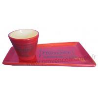 Service Apéritif ou Café gourmand Rouge déco Trésors de Provence
