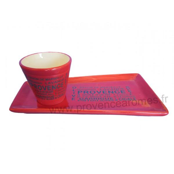 Service ap ritif ou caf gourmand rouge d coration tr sors de provence provence ar mes - Service cafe gourmand ardoise ...