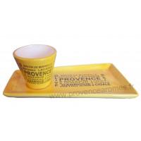 Service Apéritif ou Café gourmand jaune déco Trésors de Provence