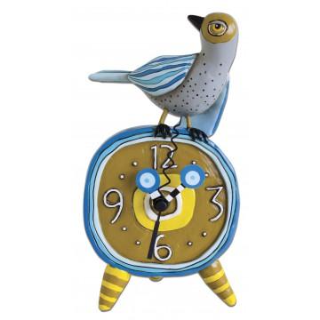 Horloge oiseau a poser déco rétro vintage designs originale