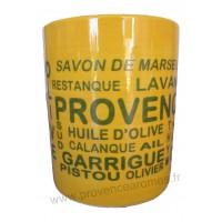 Pot ou mug en céramique jaune motif Trésors de Provence