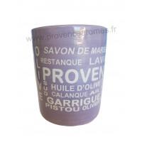 Pot ou mug en céramique lavande motif Trésors de Provence