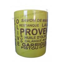 Pot ou mug en céramique Vert anis déco Trésors de Provence