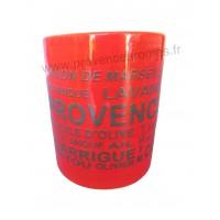 Pot ou mug en céramique Rouge déco Trésors de Provence