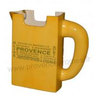 Carafe Pichet TETRA BRICK en céramique jaune motif Trésors de Provence
