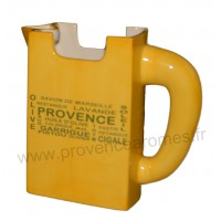 Carafe Pichet TETRA BRICK jaune déco inscriptions Trésors de Provence