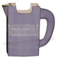 Carafe Pichet TETRA BRICK en céramique lavande motif Trésors de Provence