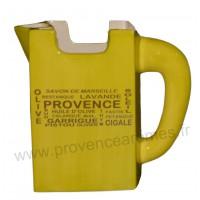 Carafe Pichet TETRA BRICK en céramique Vert Anis motif Trésors de Provence