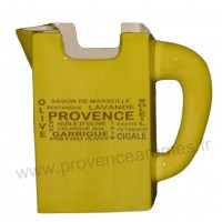Pichet Carafe TETRA BRICK céramique Vert Anis déco Trésors de Provence