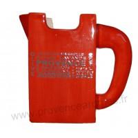 Carafe Pichet TETRA BRICK en céramique Rouge motif Trésors de Provence