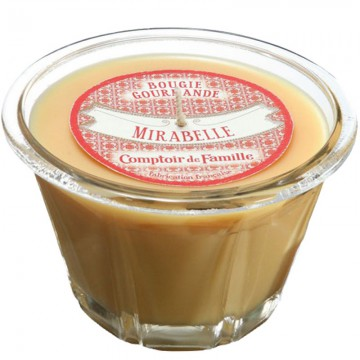Bougie Tarte Mirabelle Bougie Comptoir de Famille collection Bougie Gourmande