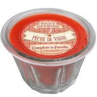 Bougie Pêche de Vigne Gourmande collection Compoir de Famille