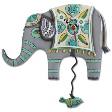 Horloge Éléphant Indien à balancier déco vintage designs
