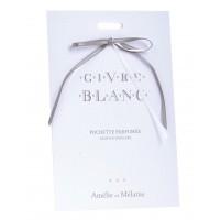 Pochette parfumée GIVRE BLANC Amélie et Mélanie de Lothantique