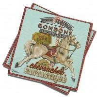 Serviettes en papier CHEVAUCHÉE FANTASTIQUE Natives déco rétro et vintage