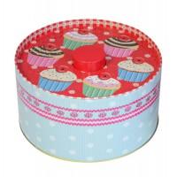Boîte à bonbons ou biscuits en métal déco cupcake rétro