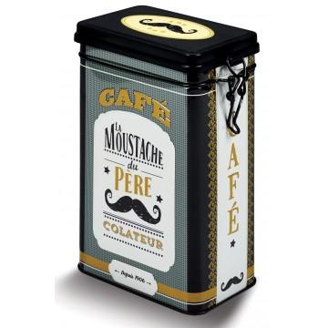 Boîte à café MOUSTACHE DU PÈRE COLATEUR Natives déco rétro vintage