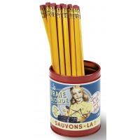 Pot à crayon VRAI BLONDE Natives déco rétro vintage humoristique