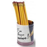 Pot à crayon BONNE MINE Natives déco rétro vintage humoristique