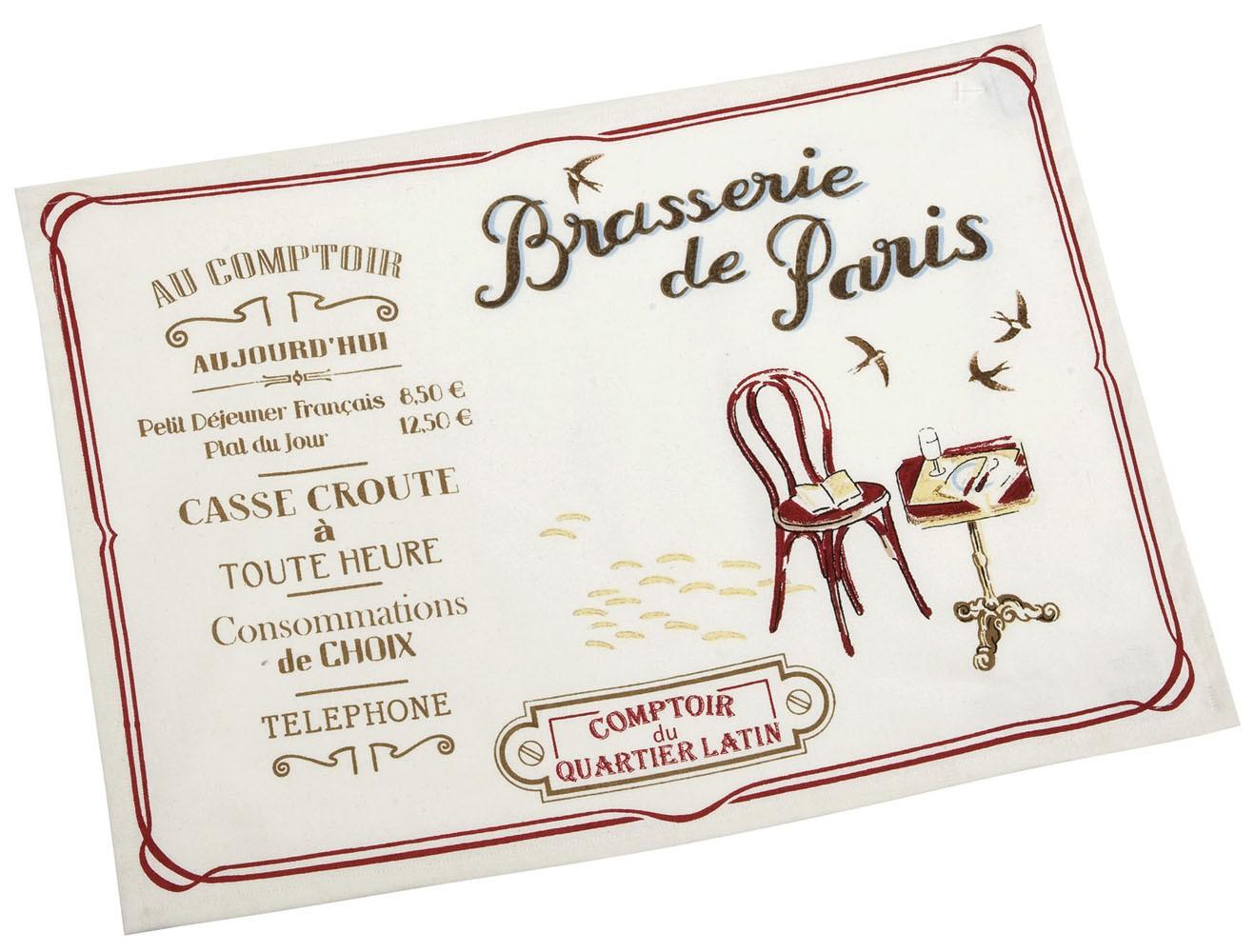 2 sets de table BRASSERIE DE PARIS Comptoir de Famille - Provence ...