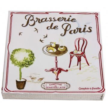 Serviettes en papier brasserie de paris comptoir de - Comptoir de famille salon de provence ...