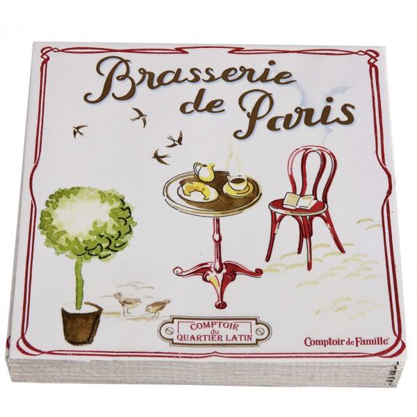 Serviettes en papier brasserie de paris comptoir de famille provence ar mes - Comptoir de famille salon de provence ...