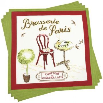 4 serviettes BRASSERIE DE PARIS Comptoir de Famille