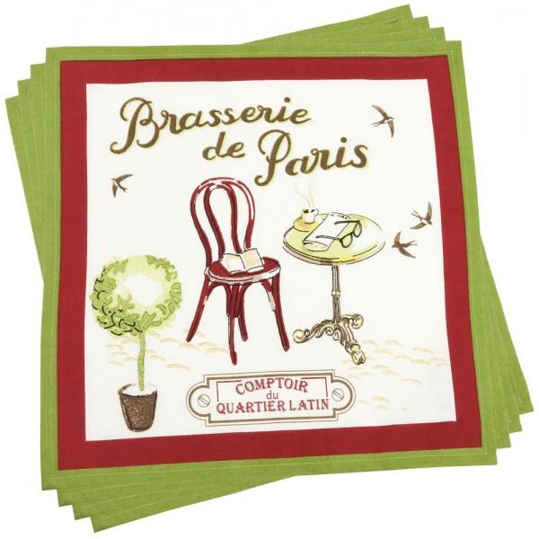 4 serviettes brasserie de paris comptoir de famille provence ar mes tendance sud - Le comptoir de famille catalogue ...
