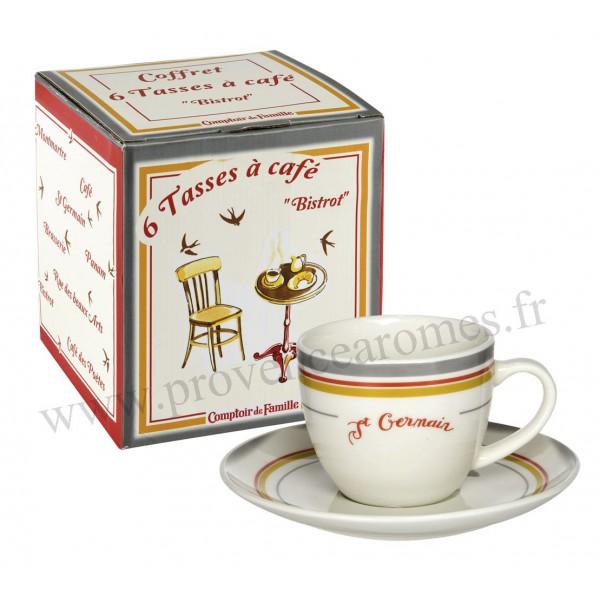 6 tasses caf bistrot de paris coffret comptoir de famille provence ar mes tendance sud - Comptoir de famille salon de provence ...