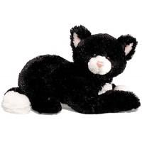 Peluche chaton MALIN CALIN petit chat Noir et blanc