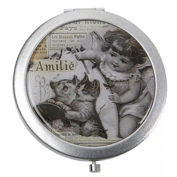 Miroir de poche amiti comptoir de famille d co r tro for Miroir comptoir de famille