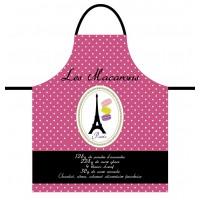 Tablier de cuisine MACARONS Tablier Rose en coton Délices de France
