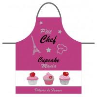 Tablier de cuisine enfant CUPCAKE P'tit Chef rose