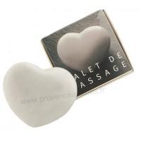 Galet de massage Coeur marbre blanc Tadé