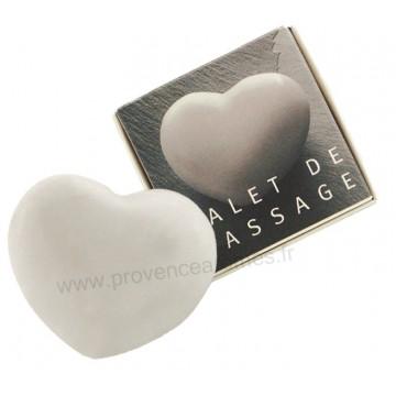 galet de massage coeur marbre blanc tad provence ar mes. Black Bedroom Furniture Sets. Home Design Ideas